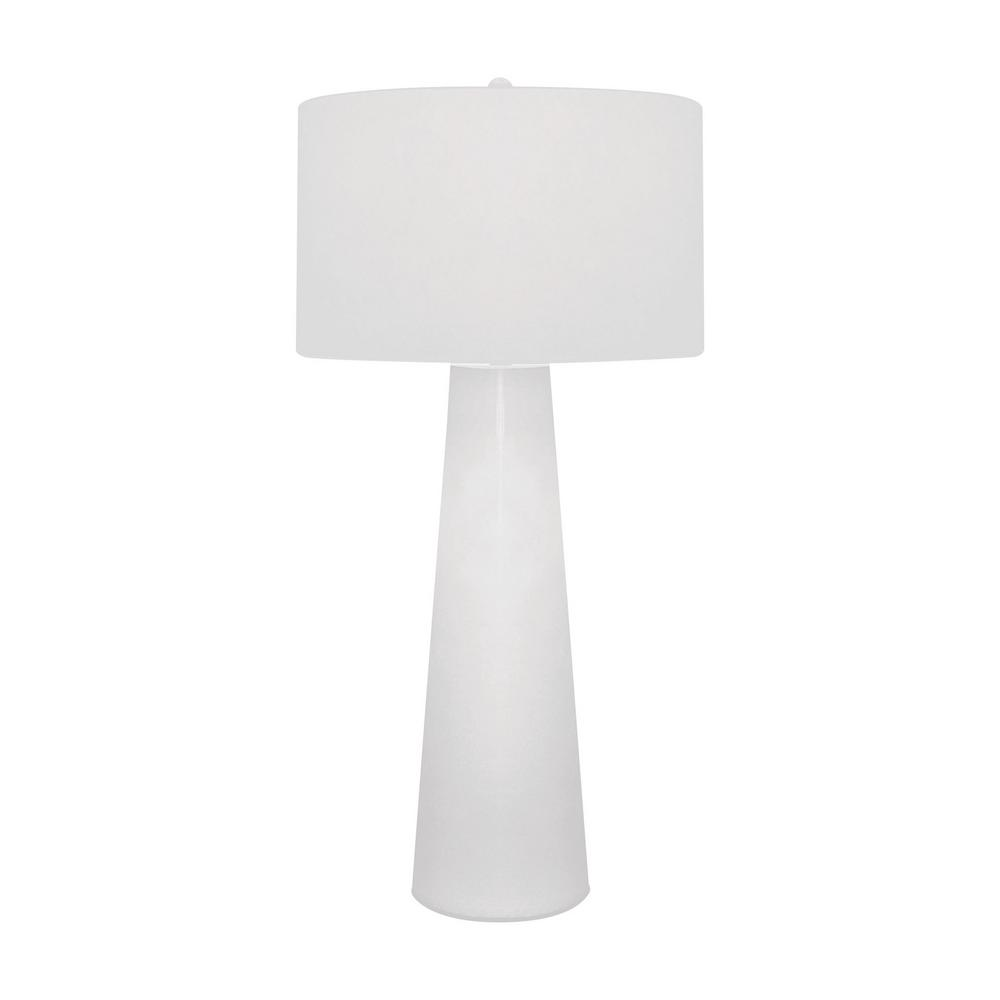 Titan lighting 36 in white obelisk table lamp with night light tn titan lighting 36 in white obelisk table lamp with night light tn 891538 the home depot geotapseo Images