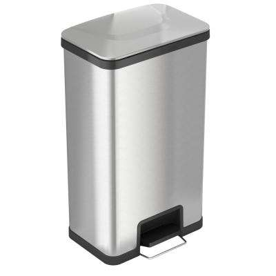 AirStep 18 Gal. Step-On Kitchen Stainless Steel Trash Can with Odor Control System Silent and Gentle Lid Close