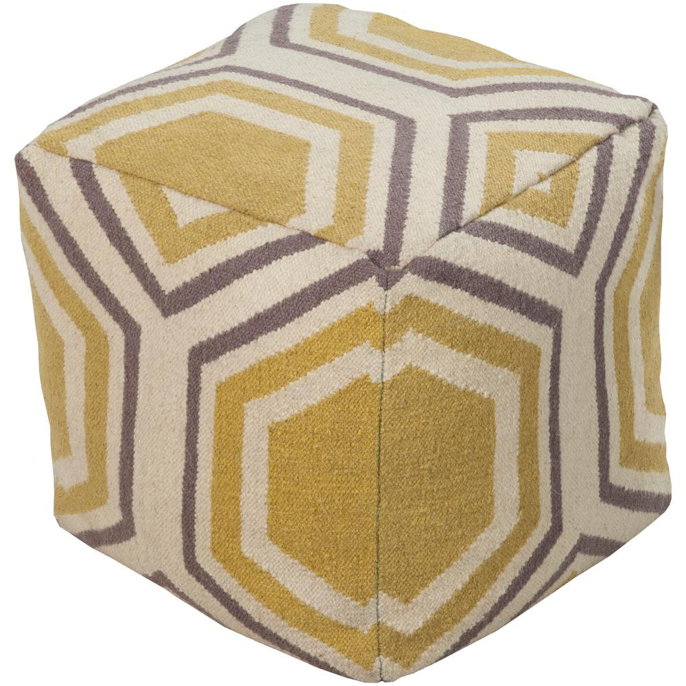 Alavus Wheat Accent Pouf Ottoman