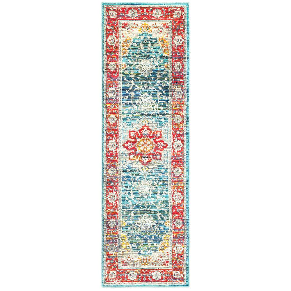 Home Decorators Collection Demi Red Multi 2 ft. x 8 ft. Runner Rug