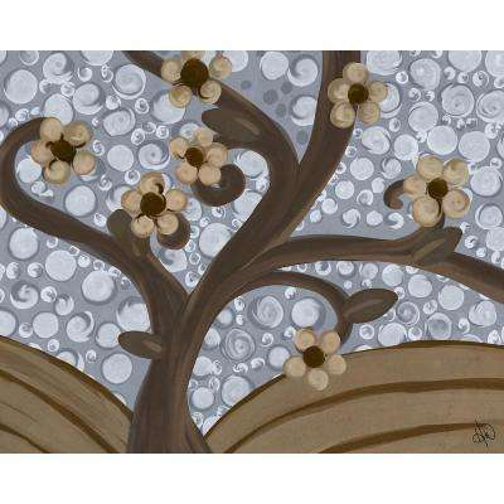 """20 in. x 24 in. """"Twisty Tree Blue Sky"""" Planked Wood Wall Art Print"""