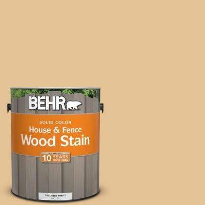 1 gal. #310E-3 Ripe Wheat Solid Color House and Fence Exterior Wood Stain
