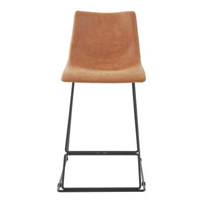 Nash 26 in. Counter Stool in Sand Faux Leather (Set of 2)
