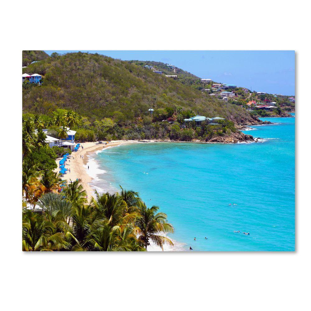 null 22 in. x 32 in. Virgin Islands 10 Canvas Art
