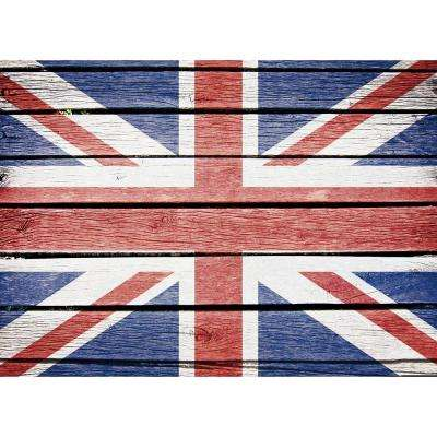 25.6 in. x 18.5 in. Union Jack Kitchen Panel Wall Decal