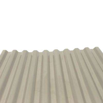 DeckDrain 10 ft. PVC Roof Panel in Opaque Tan (10-Pack)