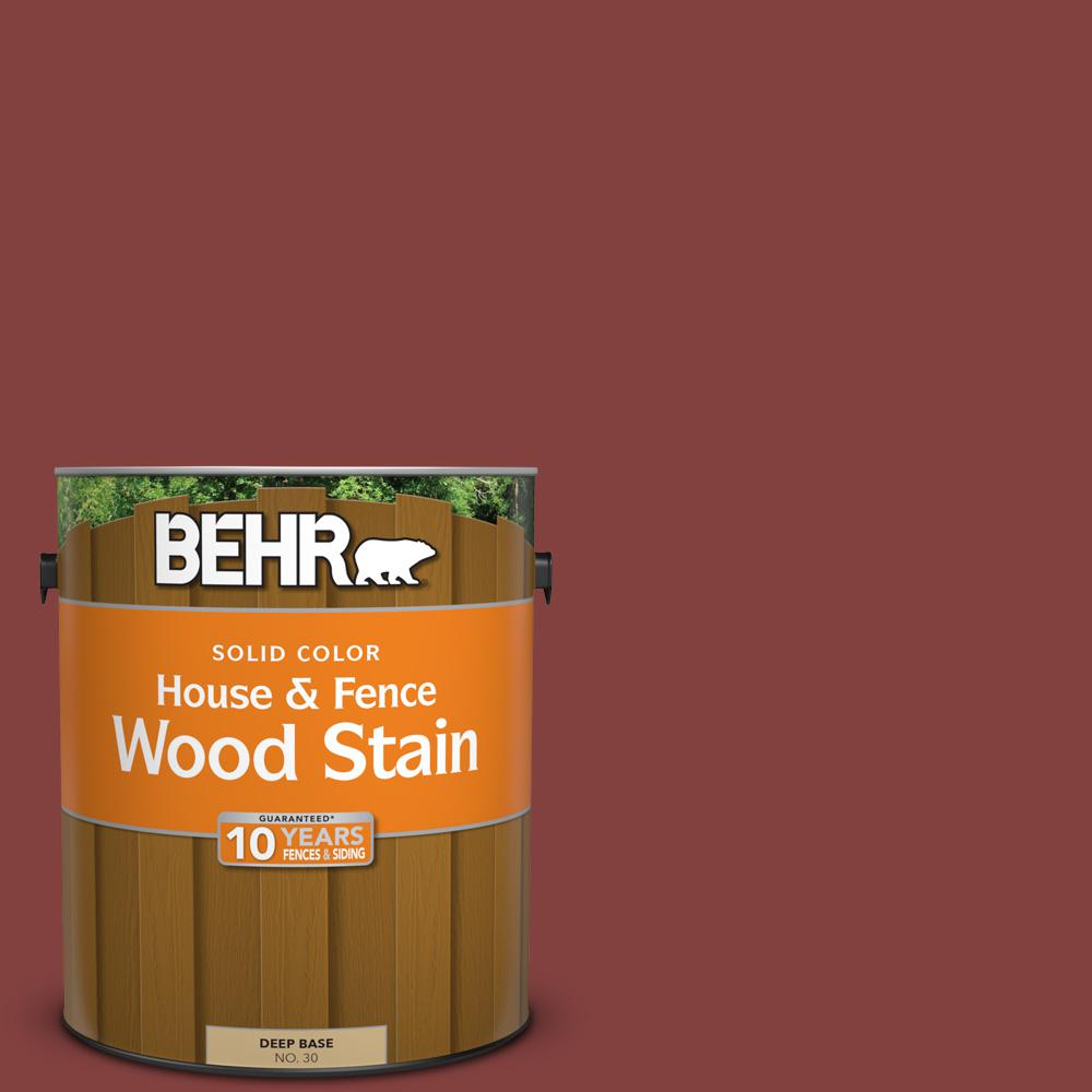 S H 170 Red Brick Solid Color House And Fence Exterior Wood Stain