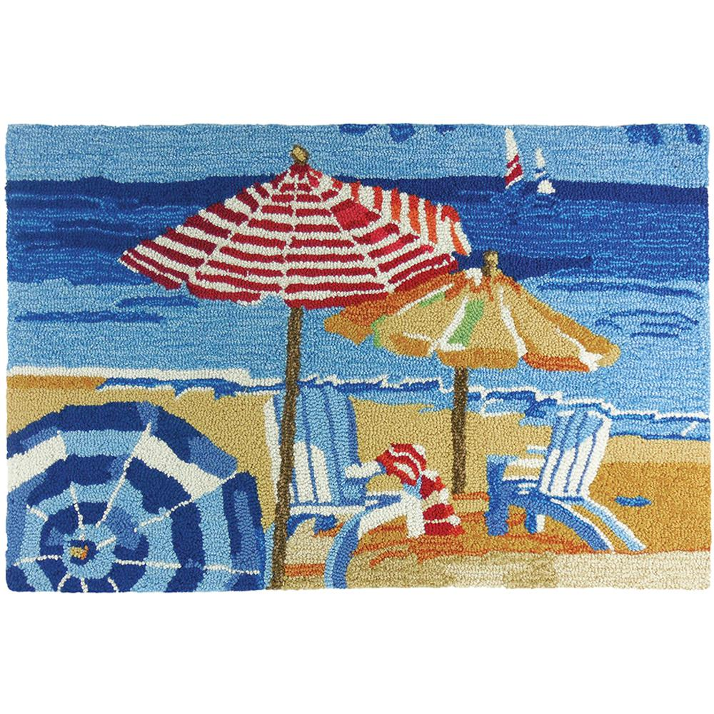 Day At The Beach Multi Colored 2 Ft X 3 Coastal Area