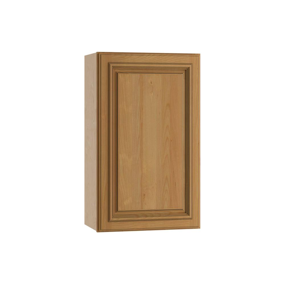 Clevedon Assembled 18x30x12 in. Single Door Hinge Right Wall Kitchen Cabinet