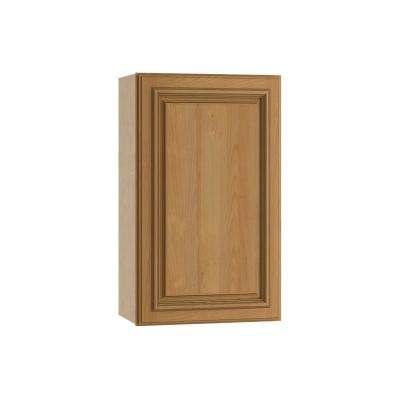 Clevedon Assembled 21x30x12 in. Single Door Hinge Left Wall Kitchen Cabinet in Toffee Glaze