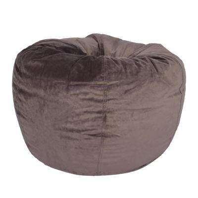 Arabella Dove Velvet Bean Bag