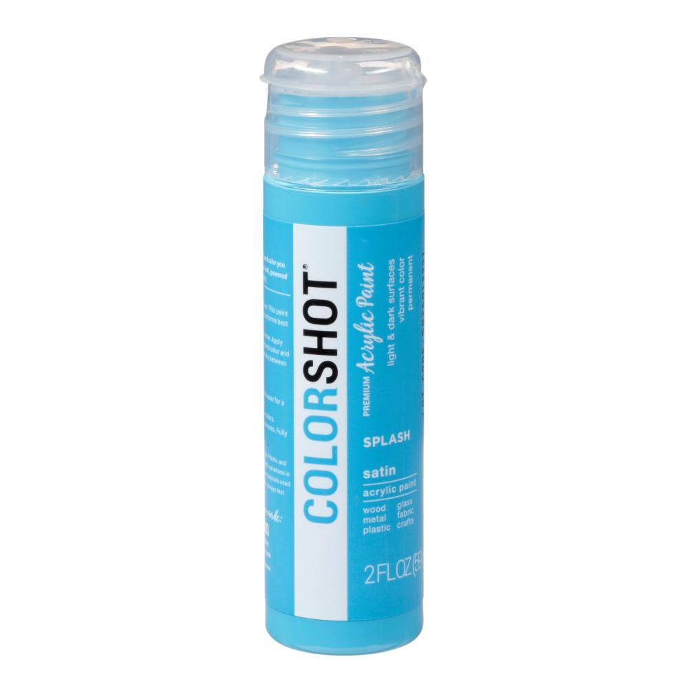 COLORSHOT 2 oz. Splash Medium Blue Craft Paint