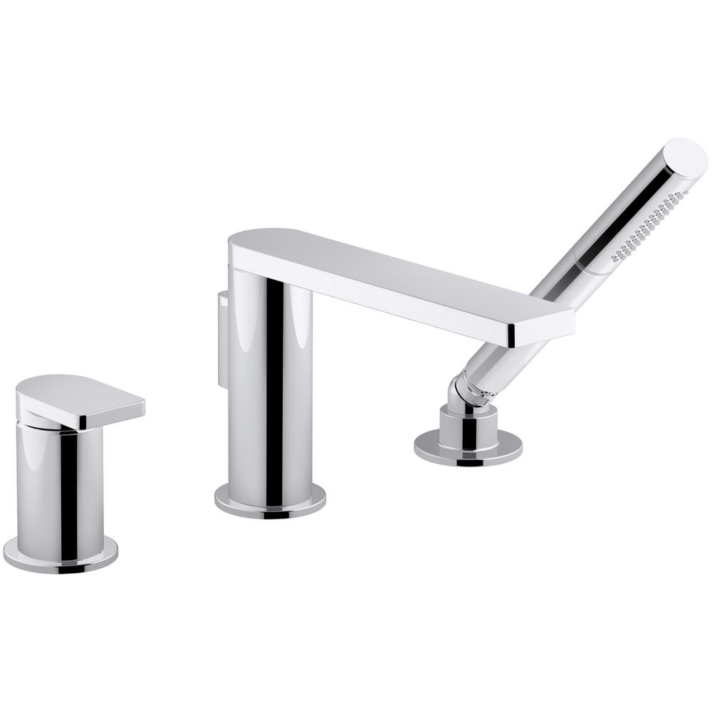 kohler roman tub faucet with hand shower. KOHLER Composed Single Handle Deck Mount Roman Tub Faucet with Handshower  in Polished Chrome