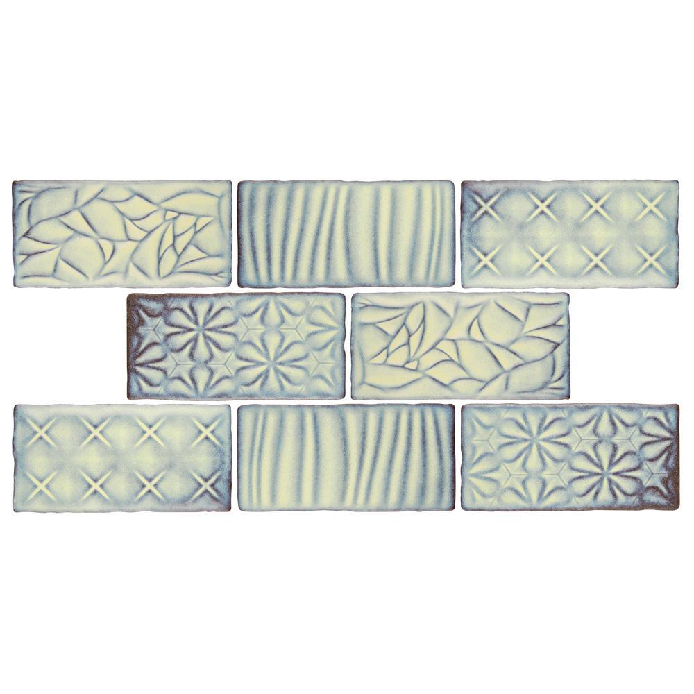 Merola Tile Antic Sensations Pergamon 3 in. x 6 in. Ceramic Wall Subway Tile (1 sq. ft. / pack), Pergamon / Medium Sheen was $20.62 now $13.57 (34.0% off)