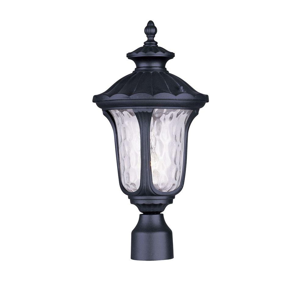 Providence 11.75 in. Outdoor Black Post Head Lantern