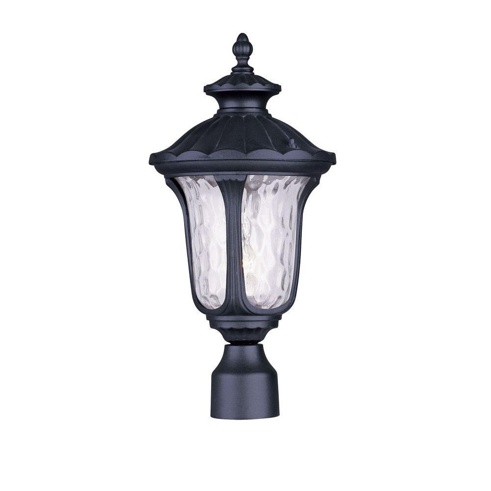 Providence 11.75 in. Outdoor Black Post Head Lantern