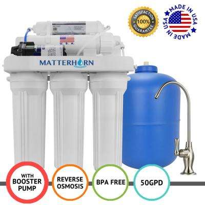 Superior Reverse Osmosis Under the Sink Water Filter System with Pump - 5 Stage 50 GPD