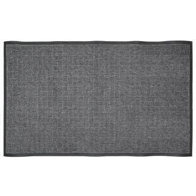Charcoal 46 in. x 72.5 in. Rubber Commercial Door Mat