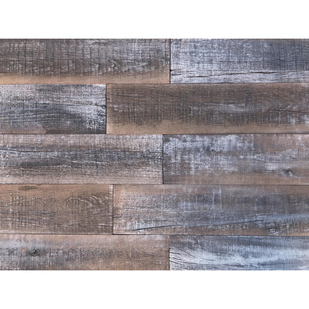 barn 1 4 in x 5 in x 2 ft reclaimed 3d wood decorative wall planks in gray color 10 sq ft. Black Bedroom Furniture Sets. Home Design Ideas
