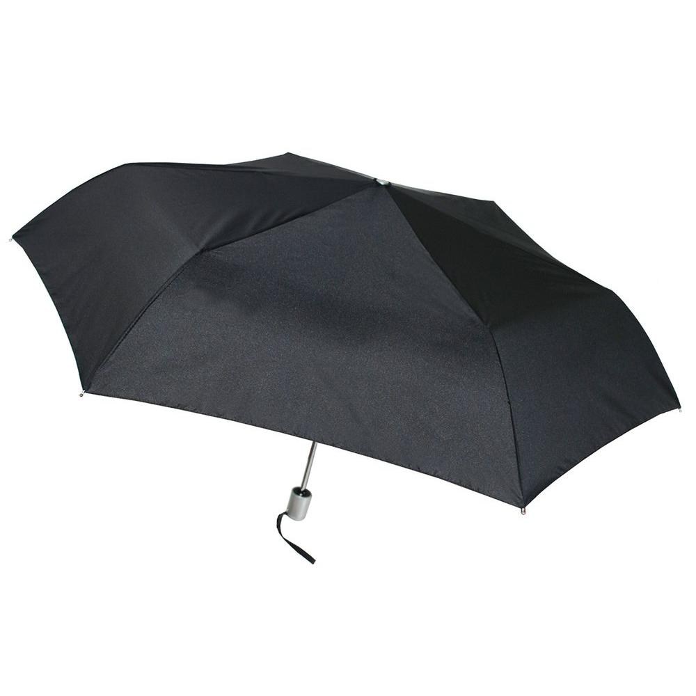 41 in. Arc Tiny Mini Auto Open and Close Black Umbrella