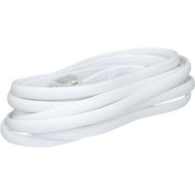 7 ft. 4-Wire Telephone Line Cord in White Telephone Connection Wiring on