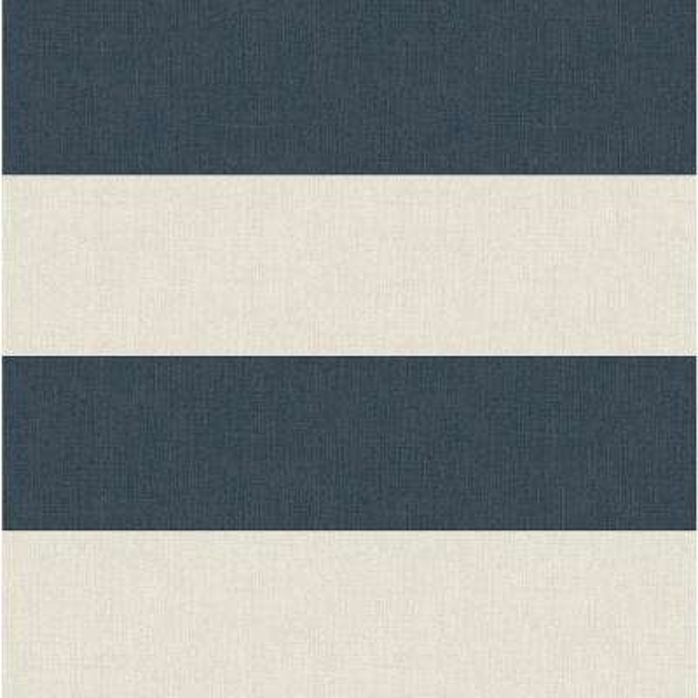 Awning Navy Stripe Wallpaper