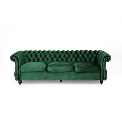 Somerville Chesterfield Emerald Sofa