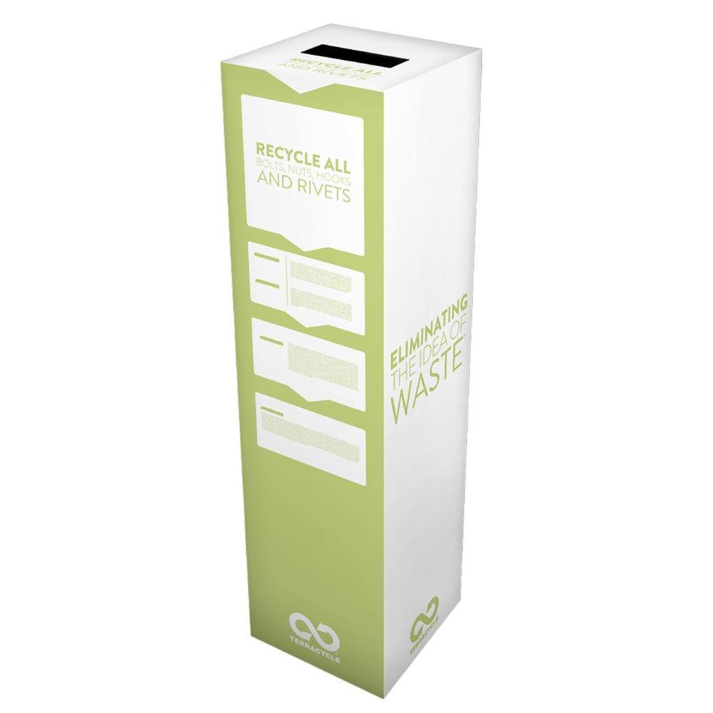 6 Gal. Bolts, Nuts, Hooks and Rivets Zero Waste Box Recycling Bin