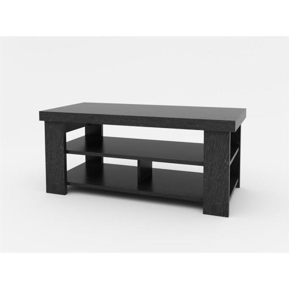 Ameriwood Home Vantage Black Oak Storage Coffee Table HD46404