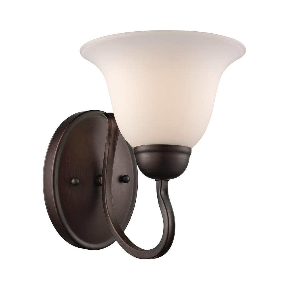 Glasswood 1-Light Rubbed Oil Bronze Sconce