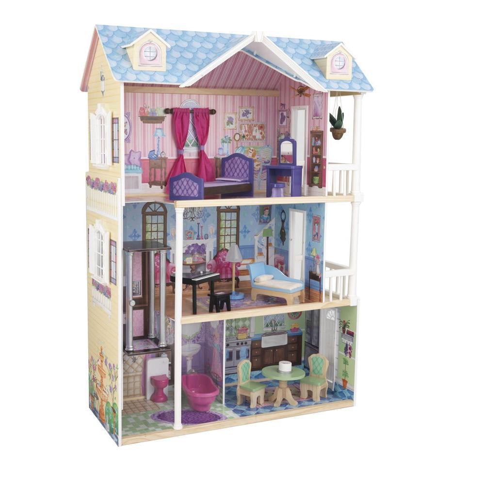 Kidkraft Majestic Mansion Dollhouse Play Set 65252 The Home Depot