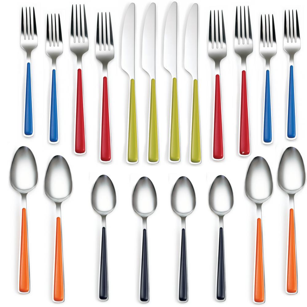 20-Piece Merengue Multicolor Flatware Set, Service for 4