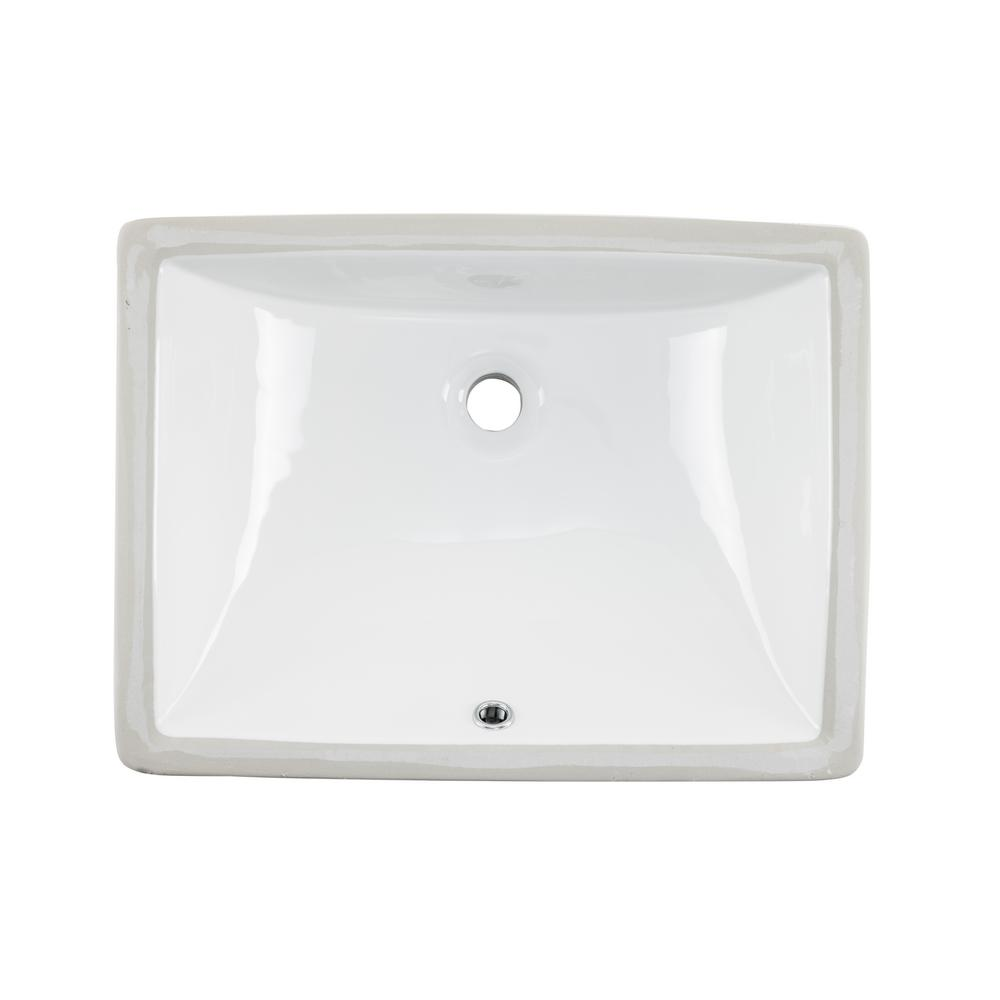 Cahaba 18 in. x  13 in. Glazed Porcelain Bathroom Sink in White