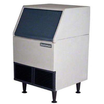 24.25 in. W 395 lb. Freestanding Ice Maker in Stainless Steel