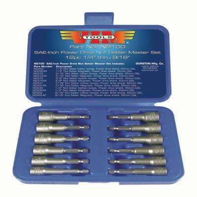Magnetic and Hollow Body Nut Setters (12-Piece)