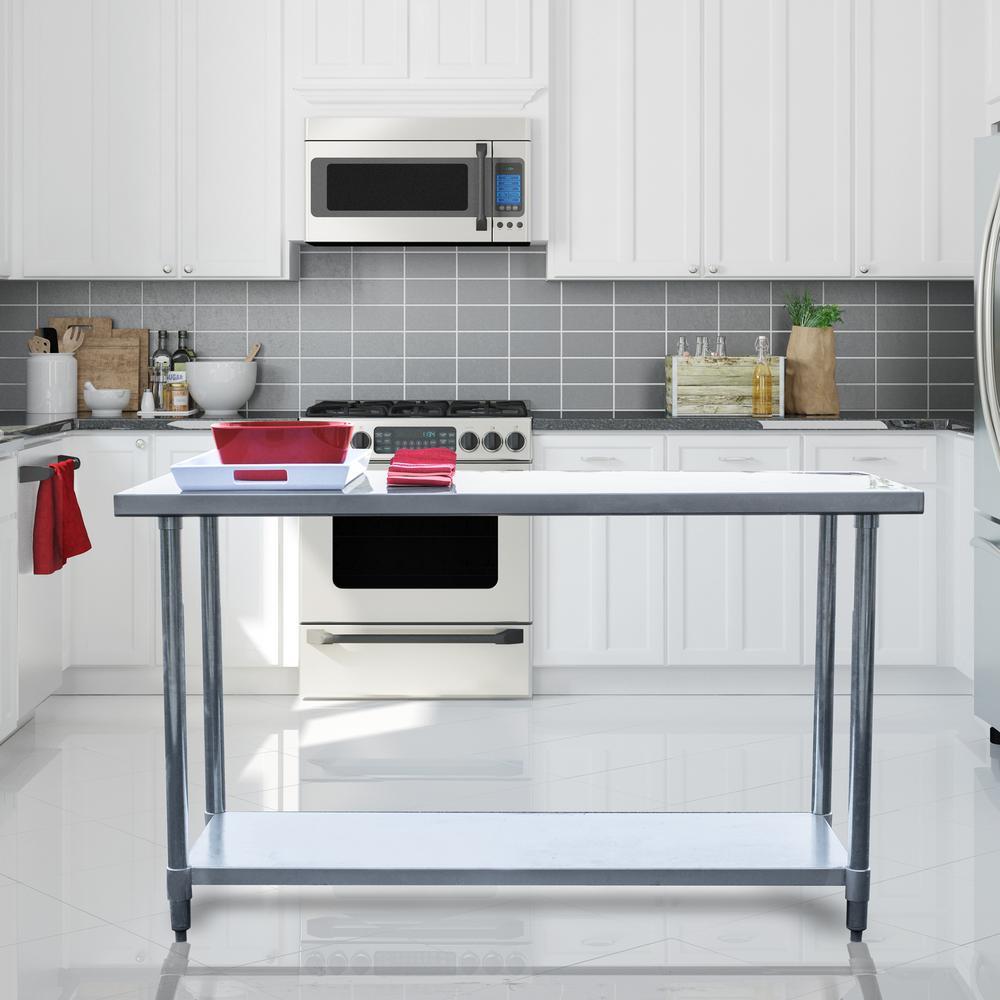 Stainless Steel Kitchen: Sportsman Stainless Steel Kitchen Utility Table SSWTABLE60