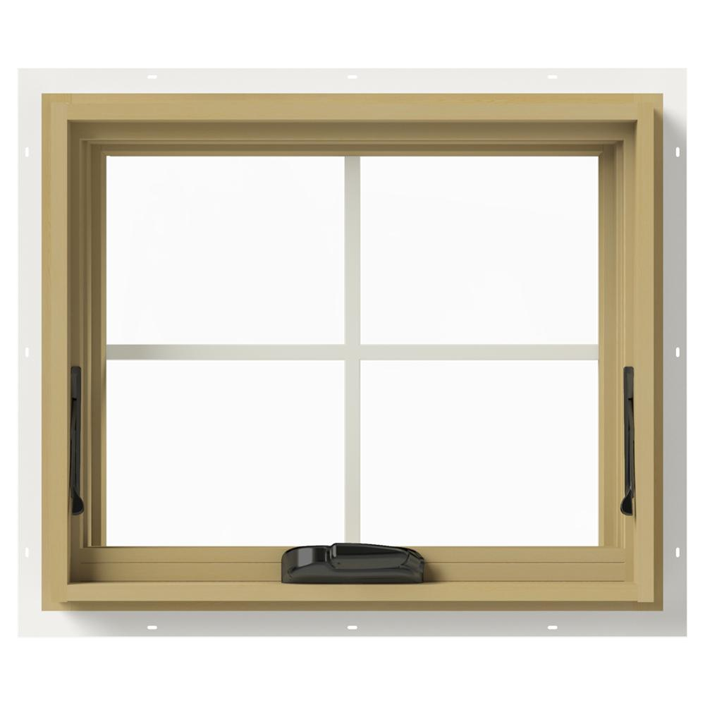 Jeld Wen 24 In X 20 In W 2500 Awning Aluminum Clad Wood