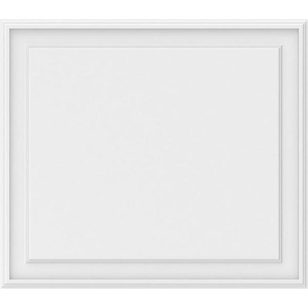 5/8 in. x 32 in. x 28 in. Legacy Raised Panel White PVC Decorative Wall Panel