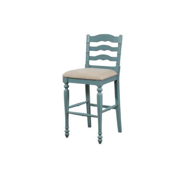 Marla 30 in. Antique Blue Bar Stool
