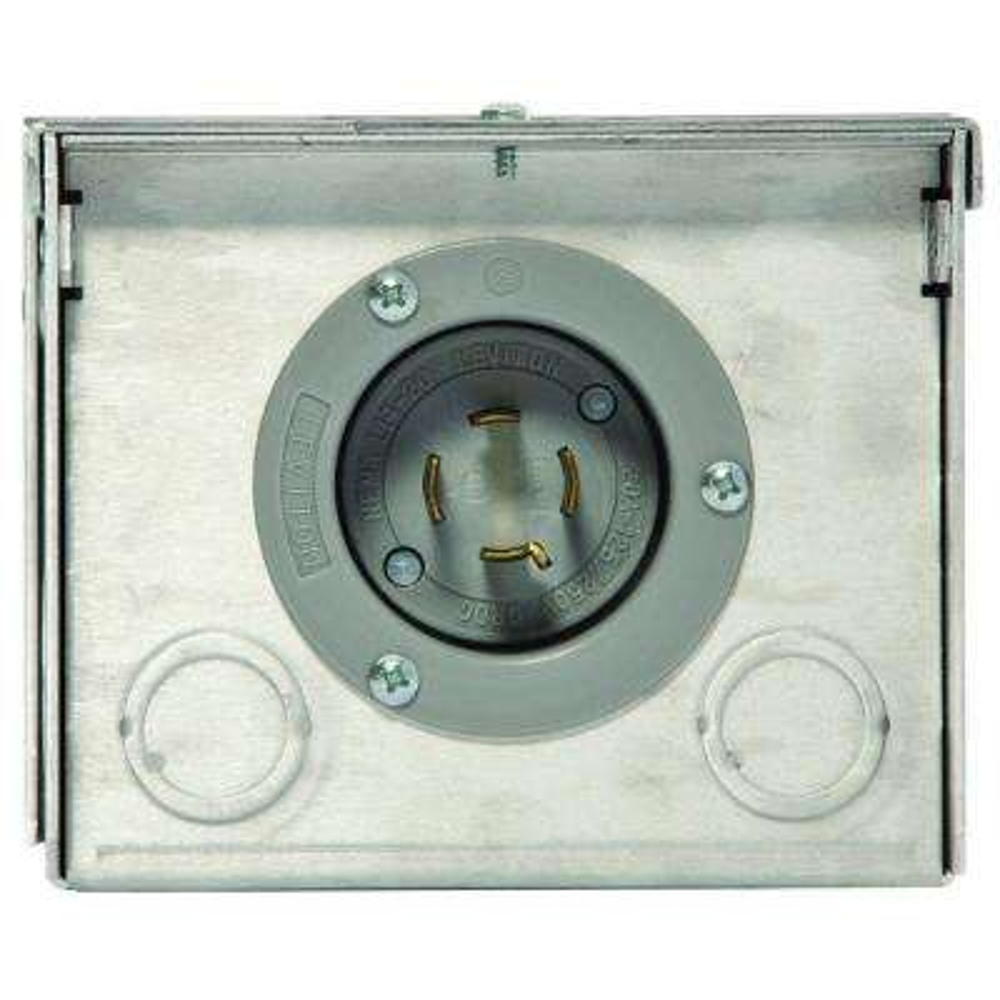 20 Amp Raintight Aluminum Power Inlet Box