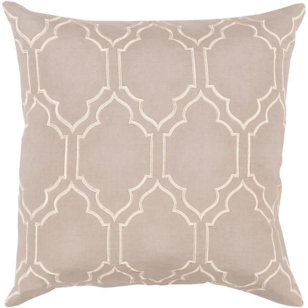 Monticello Brown Geometric Polyester 18 in. x 18 in. Throw Pillow