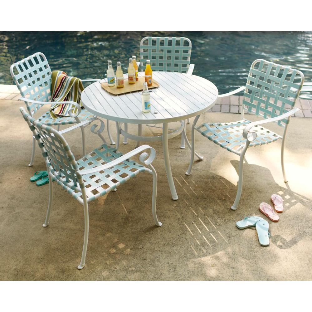 Hampton Bay Summerville 5-Piece Patio Dining Set in Turquoise-DISCONTINUED