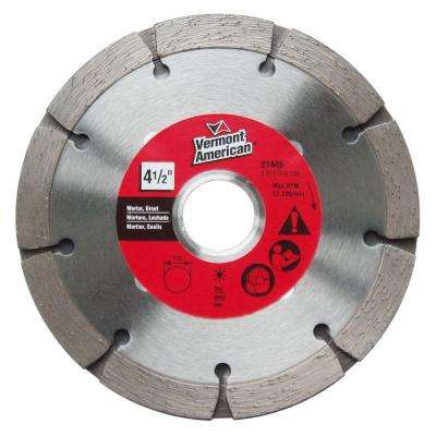 4-1/2 in. Tuckpointing Diamond Cut-Off Blade for Dry Cutting Mortar and Grout Removal