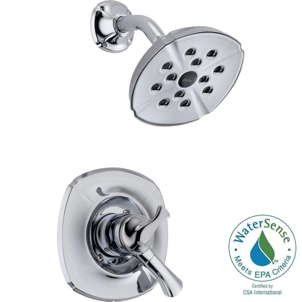 Delta Addison 1-Handle H2Okinetic Shower Only Faucet Trim Kit in Chrome (Valve Not Included)