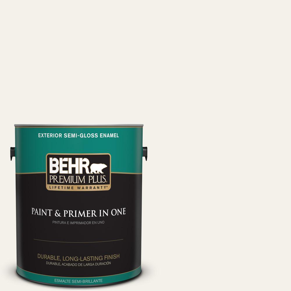 1 gal. #PPU18-07 Falling Snow Semi-Gloss Enamel Exterior Paint