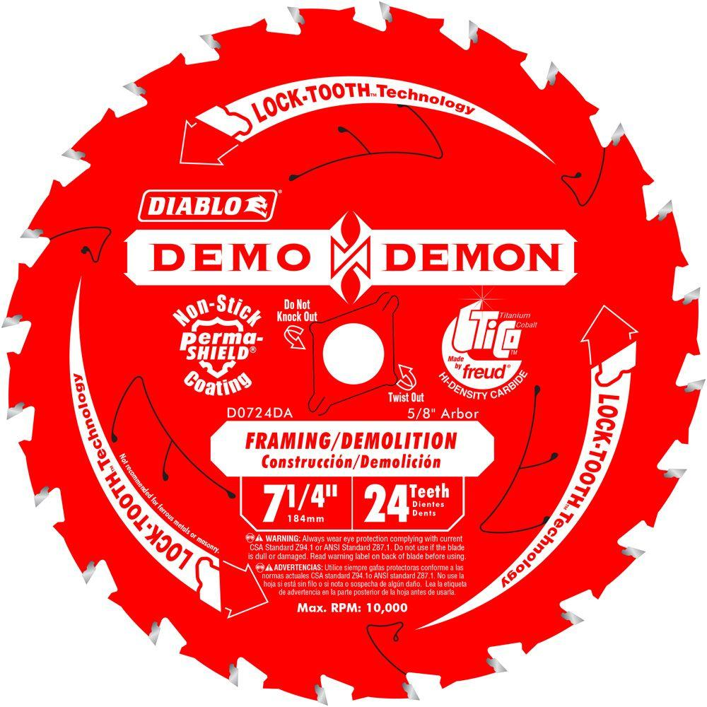 7-1/4 in. 24-Teeth Demo Demon Framing/Demolition Saw Blade (10-Pack)