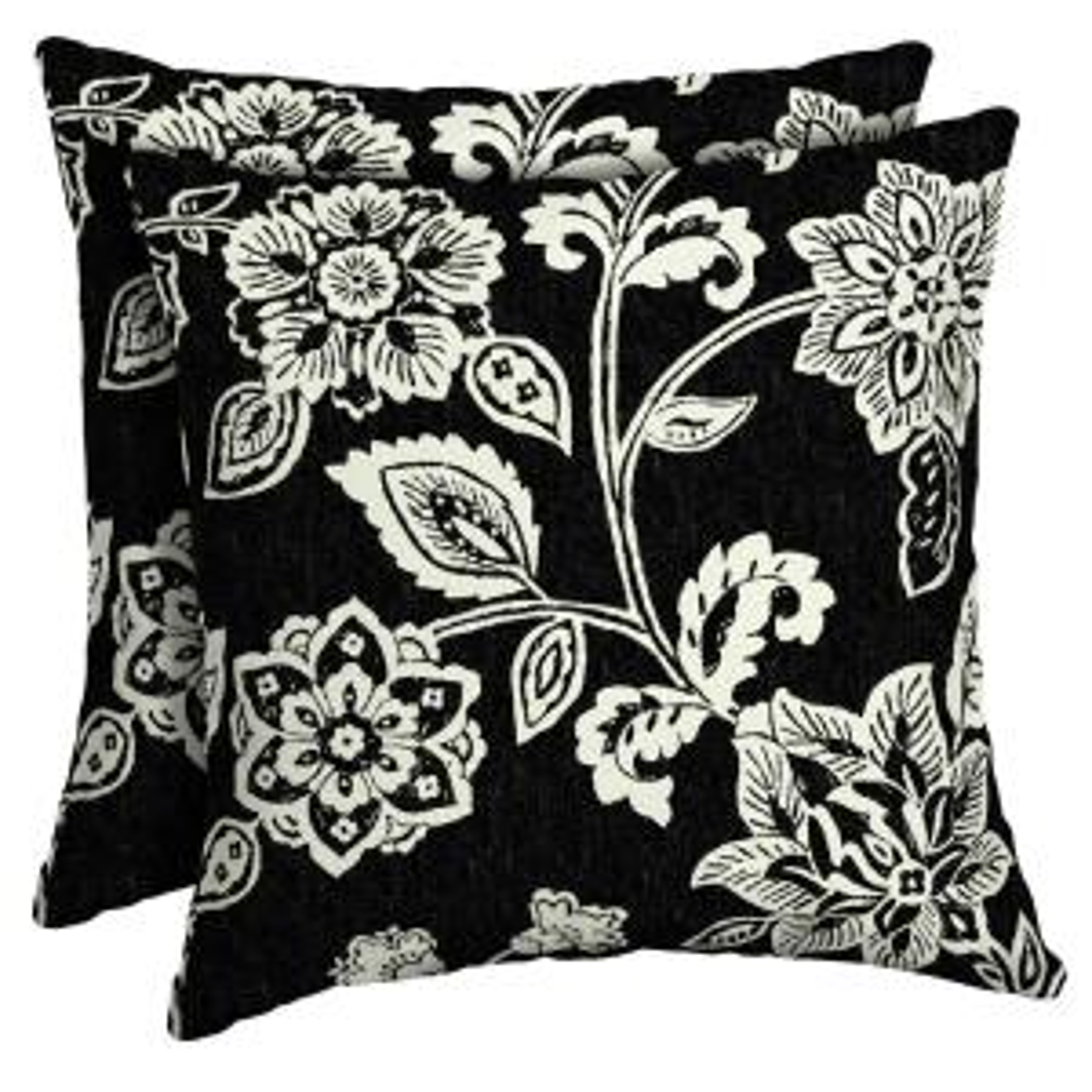 16 x 16 Ashland Jacobean Square Outdoor Throw Pillow (2-Pack)