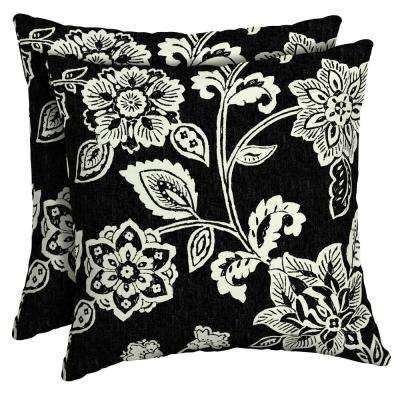 16 x 16 Ashland Jacobean Square Outdoor Throw Pillow (2-Pack)