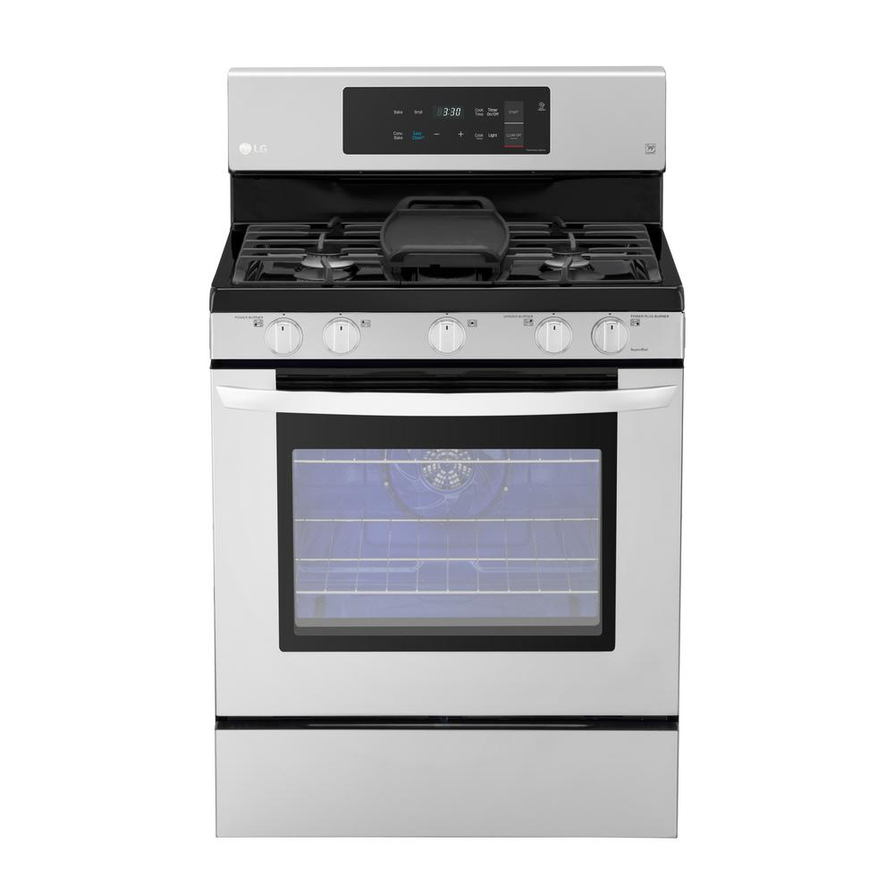 LG 5.4 cu. ft. Gas Range with Even Jet Fan Convection Ove...