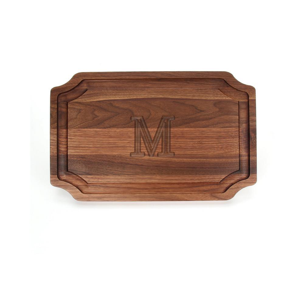 Scalloped Walnut Carving Board M